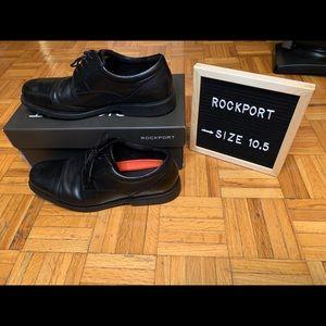 Rockport Mens Dress Shoes Black Captoe Design 10.5